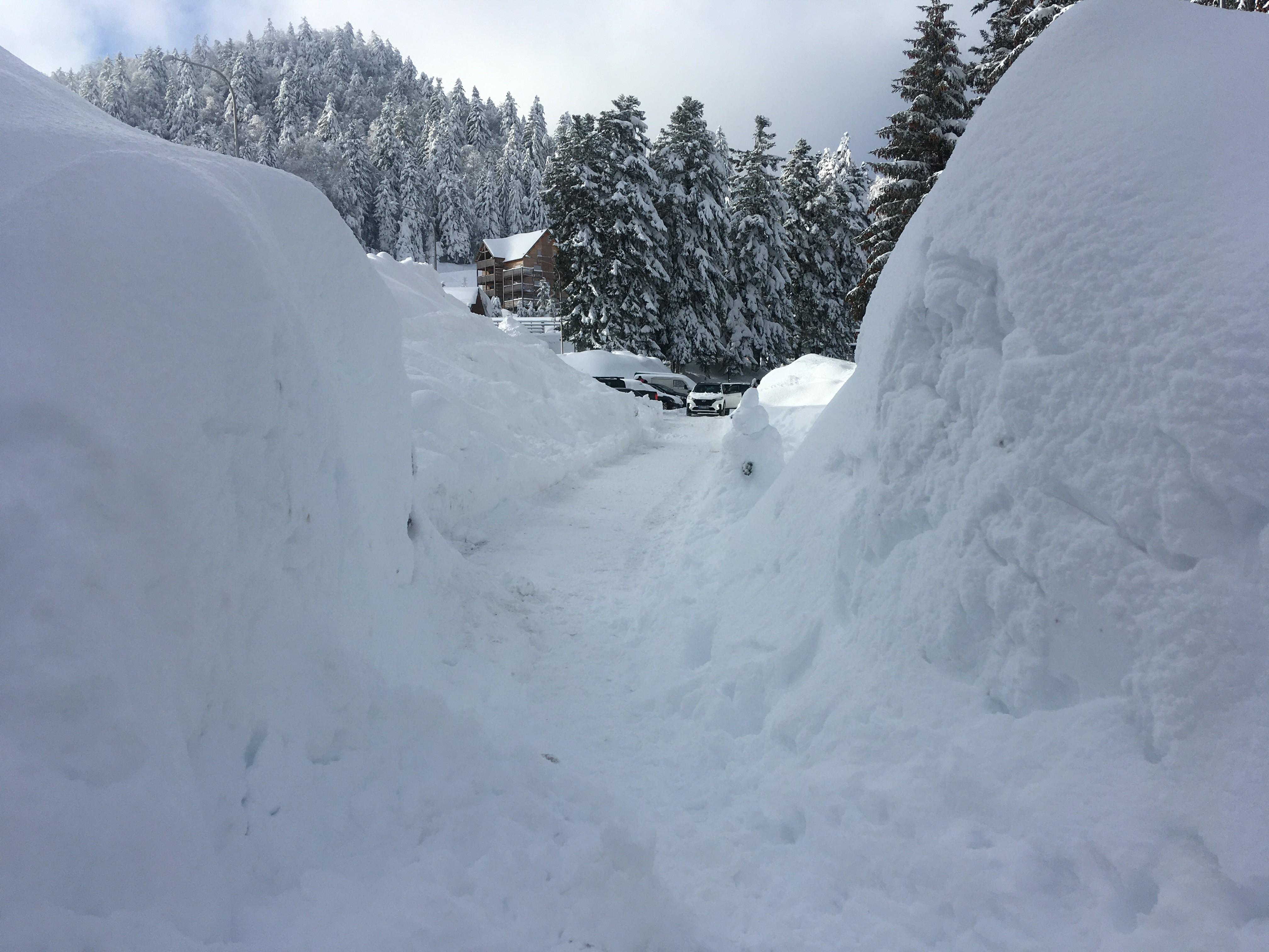 1311 couloir de neige accès au P2