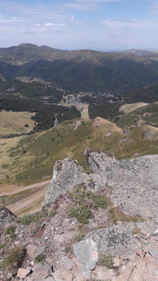 vue de la sation à partir du pylone TDF